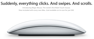 Foto do Apple Magic Mouse. Mouse Multitouch da Apple.